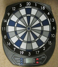 Halex Zeta Electronic Dart Board 64310 Blue Gray Black Works Great