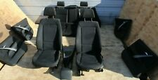 BMW 1 SERIES E87 2008 BLACK CLOTH INTERIOR SEATS WITH DOOR CARDS COMPLETE