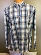 Sir Pendleton 100%cotton  L/S PLAID button down shirt XL.H7