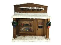 Vtg Rustic Walters Toy Shop XMas Village Train Store Front 3D Diorama Wall Art