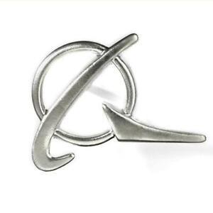 Boeing Logo Silver Lapel Pin