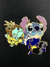 Disney Tokyo Japan Costume Stitch and Scrump as Belle Beauty & The Beast Pin