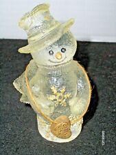 Sarah's Attic Limited Edition Figurine Clear Resin Snowman Blaze 1996