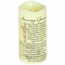 """Christian Gift - Everlasting Glow With Premier Flicker """"Amazing Grace"""" Candle"""