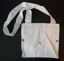White Cotton Carrying Haversack Bag #1 - Civil War - Mountain Man/Powwow -