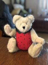 "New ListingBoyds Bear Plush Strawberry Themed Tan Bear ""Hilby Jamm"" 9� Tall W/ Tags"