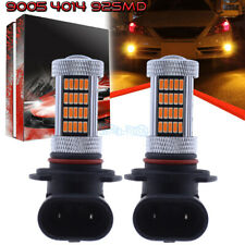 2Pcs 9005 9145 H10 4014 92Smd Led Fog Light Conversion Kit Upgrade 3000K Amber
