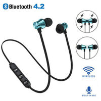 In-Ear Earbuds Headphone Bluetooth 4.2 Stereo Earphone Headset Wireless Magnetic
