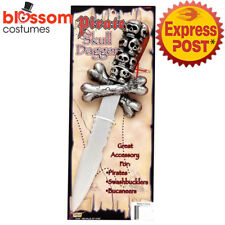 Ac460 Pirate Skull Dagger Sword Knife Jack Sparrow Halloween Costume Accessory