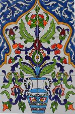 Fliesenbild Keramikfliesen Orient Handbemalt Wandfliesen Mediterran Mosaik 06 15