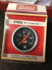 Mallory Vacuum Gauge 2 5/8� 29804 Nos Original Package New In Box