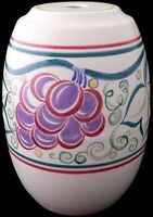 Attractive Poole Pottery Grape Pattern Lamp Base