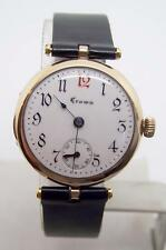 Vintage Rose Goldfilled Unisex CROWN Winding Watch c.1920's* EXLNT* SERVICED