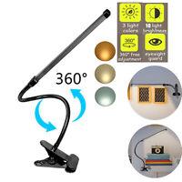 LED Tisch-Leuchte Schreibtisch-Lampe Büro dimmbar Leselampe Nachttisch USB Clip
