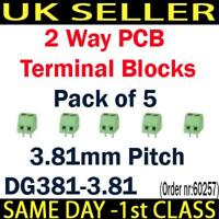 2 Ways PCB Terminal Block Screwless 24A DG381-3.81 300V 10A  13.5A ROHS