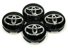 "4 pcs, Toyota, Wheel Center HubCap, Black, 62 MM, 2.44"", Camry Corolla Avalon"