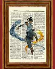 Korra Avatar The Last Airbender Dictionary Art Print Poster Picture Anime Manga