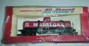 American Flyer #24316 Mobil Gas Tank Tanker  Car New In Box  Pike Master