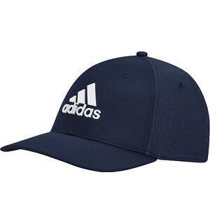 adidas Performance Mens Tour Stretch Fit Golf Baseball Cap Hat - Navy Blue