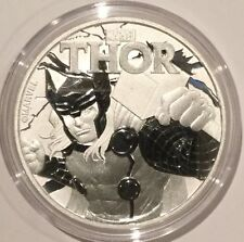 Marvel Comic THOR Collectible Coin 1 Troy Oz .999 Fine Silver Tuvalu Round Medal