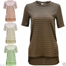 Polyester Short Sleeve Hand-wash Only Tops for Women