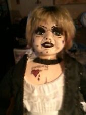 "TIFFANY BRIDE OF CHUCKY DOLL CHILDS PLAY PORCELAIN FACE DOLL 16"" ZOMBIE PROP"