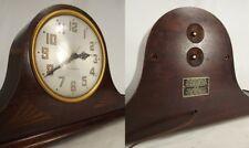 ANTIQUE SETH THOMAS MANTEL CLOCK USA Art Deco PLYMOUTH rare wood old electric