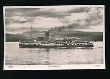 Shipping Clyde Paddle Steamer PS CALEDONIA used c1936 RP PPC