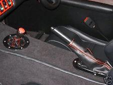 RED STITCH GEAR GAITER & HANDBRAKE GAITER LEATHER SKIN FITS WESTFIELD