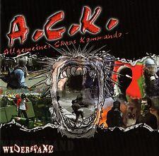 A.C.K. - WIDERSTAND CD (2002) ALLGEMEINES CHAOS KOMMANDO, NASTY VINYL, NEU & OVP