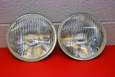 "H4 Headlights PAIR 7"" Round 180mm Sealed Beam Conversion DOT Vintage Classic"