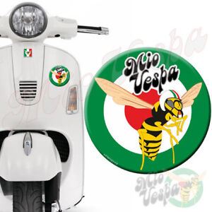 90mm Green MioVespa Logo Target Mod 3D Decal domed sticker for Vespa GTS ET PX