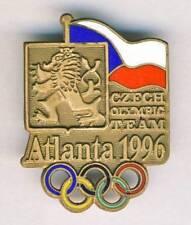 1996 ATLANTA Olympics CZECH Republic NOC deleg pin BADGE Olympic Games