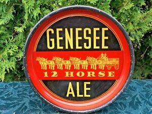 Vintage GENESEE 12 HORSE ALE Beer Tray NICE!
