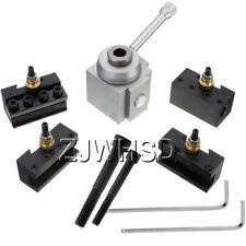 "Mini Quick Change Tool Post Holder Kit Set for 7 x 10, 12, 14"" Universal Lathes"