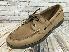 LL BEAN Brown Leather Boat Shoes Women's Size 7 Wide
