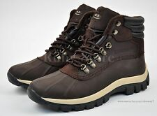 Kingshow Men's Winter Snow Work Boots Shoes Genuine Leather Water Resistant 0705