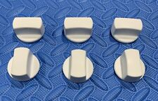 """VIKING WHITE KNOBS(6)#PA010175 FOR 30/36""""COOKTOPS, see pics."""