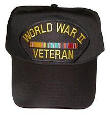 WWW II WORLD WAR TWO 2 VETERAN HAT CAP W/ EUROPE SERVICE RIBBONS