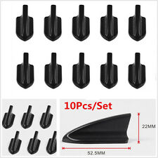 10pcs Black Auto Vortex Generators Front Bumper Spoiler Wing Roof Shark Fins Kit