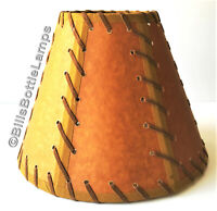 """NEW! Rustic """"Musto Verde"""" Cabin Table Light LAMP SHADE Clip-On Bulb 9 inch Cone"""