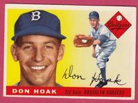 1955 Topps # 40 Don Hoak - Dodgers (EX)