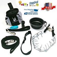 Dog Training Prong Pinch Collar 8 Piece Kit Set Leash Treat bag by RKF TOOLS