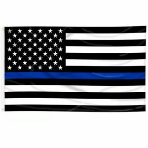 3'x5' FLAG Thin Blue Line Police Lives Matter Law Enforcement American US USA