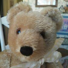 Vintage 1980s mohair Mutzli Teddy bear from Switzerland, 14in EUC