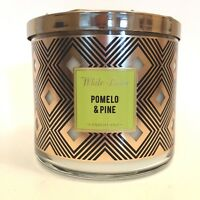 1 BATH & BODY WORKS POMELO & PINE SCENTED 3-WICK 14.5 OZ LARGE CANDLE WHITE BARN