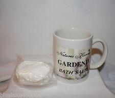 Gardenia  Bath Salts in Mug  Natures Harvest  Size 5 oz