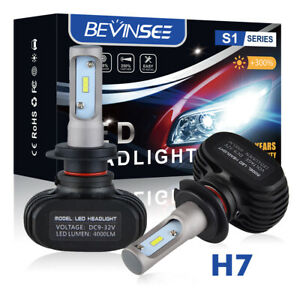 H7 LED Headlight Bulbs Kit For Kawasaki Ninja ZX10R 2004-2005 2011-2016 8000LM