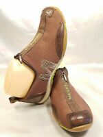 Merrell Brown Mesh/Leather Athletic Zip Up Slip On Loafers Shoes Womens 7.5 US