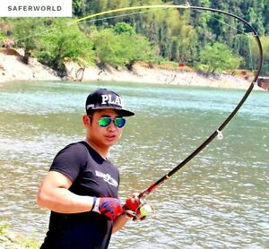 Fishing Pole Rod Tackle Carbon Fiber Tip Light Super Hard Spinning Portable Carp